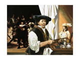 Rembrandt Painting His Famous Portrait of the Civic Guardsmen  1973