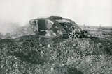 WWI British Tank in Action on the Western Front  1917