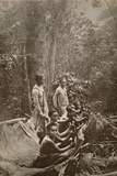 Camphor Labourers Work as Guards Protect Them from Outside Danger  Taiwan  1920