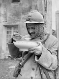 Soldier Eating Soup  1915