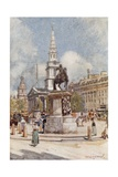 Charing Cross  with Statue of Charles I and St Martin-In-The-Fields