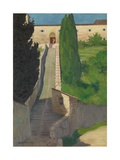 The Steps of the Convent of San Marco  Perugia  1913