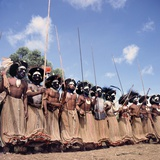 Mount Hagen Tribesmen Performing Dance at a Sing-Sing  Mount Hagen  Papua New Guinea  1974