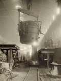 Tons of Molten Steel Being Processed for British WWI Needs  Canada  1917