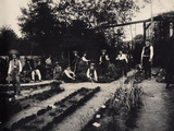Pupils at a Gardening School  1900