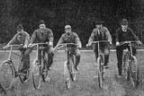 Royal Cyclists at the Start of a Race at Fredensborg  Denmark  1900