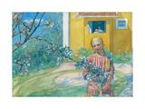 Girl with Apple Blossom  1914