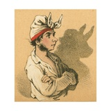 Young Man and Bull Shadow