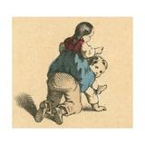 Girl Riding a Boy