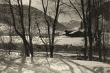 A Scenic View of a Cabin in the Snow  1920