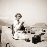 Eva Braun Relaxing at the Berghof  1942