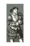 King Henry VIII with Tennis Racket
