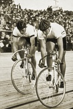 Toni Merkens and Albert Sellinger Starting the 1000 Metre Bike Race at the Berlin Olympic Games …