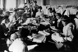 A Sewing Party at the Embassy in Russia During WWI  c1916