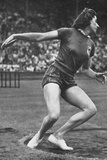 Micheline Ostermeyer on Her Way to Winning the Gold Medal for the Discus Throw at the 1948 London…