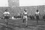 Fanny Blankers-Koen Winning the First of Her Four Gold Medals in 119 Secs in the 100 Metres Race…