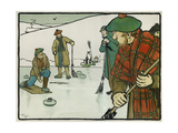 Old English Sports and Games: Curling  1901