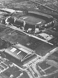 Wembley Stadium and the Empire Swimming Pool as Viewed from the Air During the London Olympic…