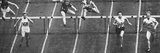 Fanny Blankers-Koen on Her Way to Winning Gold in the 80 M Hurdles Race at the 1948 London…