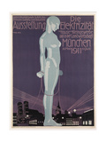 Poster Advertising the 'Electricity Exhibition'  Munich  1911