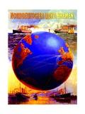 Poster Advertising the North German Lloyd Line  1907