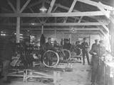 A WWI Motorcycle Repair Shop