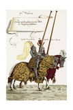 Two Knights in Jousting Armour (Gestech) and Armed with Lances  Illustration from a Facsimile…
