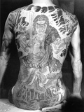 Man with Traditional Japanese Irezumi Tattoo  c1910