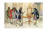 Christiaan Huygens Presenting the Pendulum Clock to Louis XIV