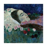 Ria Munk on Her Deathbed  c1910