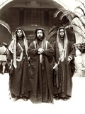 Sherif Abdullah (Centre) with Sheikh Jwayber El-Otaiby (Right) of the Otaibeh Tribe  1921