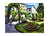 The Artist's Garden in Bonn  Germany  1911