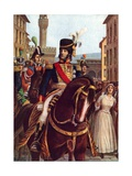Joachim Murat Entering Florence  19 January 1801