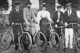 Royal Cyclists Starting for a Spin at Fredensborg  Denmark  1900