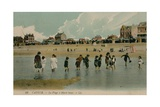 Cayeux  La Plage a Maree Basse Postcard Sent 27 July 1913