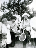 St Petersburg Residents Taking a Break from a Tennis Match  1900