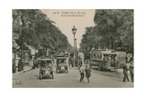 Paris  Boulevard Montmatre Postcard Sent in 1913