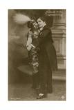 Postcard of a Young Hungarian Couple Dancing  Sent in 1913