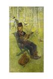 A Laplander; Lapp Spelender Fiol  1910