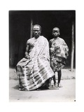 An Ivory-Coast Christian and His Son  c1935