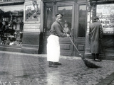 Road-Sweeper on the Nevski Prospekt  St Petersburg  1913