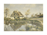 A Cottage by a Pond  1925