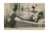 Postcard of a Woman Receiving a Shower and Massage at the Thermal Baths in Vichy  Sent in 1913
