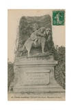 Clichy-Asnieres - Cimetiere des Chiens Monument de Barry Postcard Sent in 1913