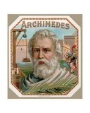 Archimedes of Syracuse  from a Cigar Box Label  Printed c1900