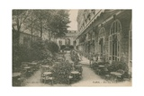 Patio of the Hotel Ritz  Paris Postcard Sent in 1913