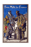 Free Milk for France  1918