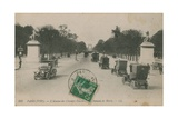Paris - Avenue des Champs-Elysees Postcard Sent in 1913