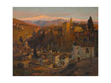 Afterglow - the Alhambra and Sierra Nevada  Granada  c1905
