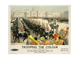 Trooping the Colour  Poster Advertising British Railways  c1950